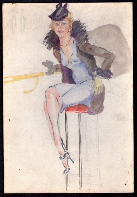1951, aquarel, 18 – 26 cm