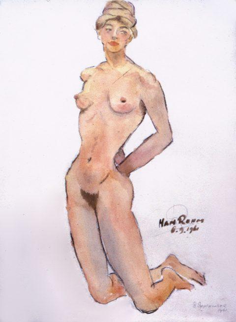 1961, aquarel, 30 – 40 cm