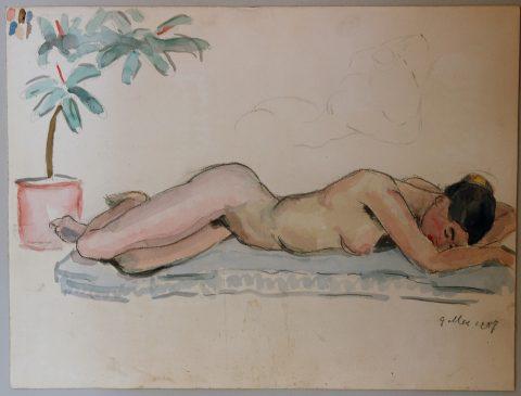 1957, aquarel, 40 – 30 cm