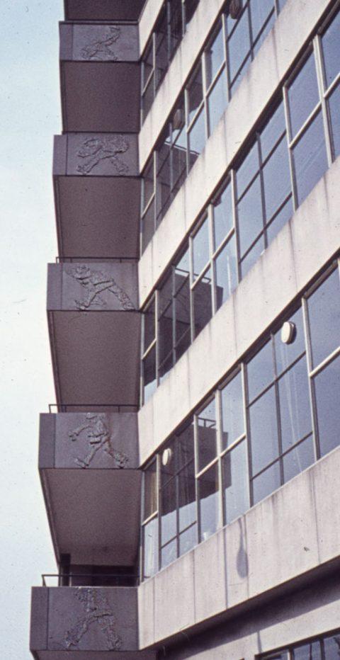 Reliefs, schokbeton, 1962, Glashaven Rotterdam