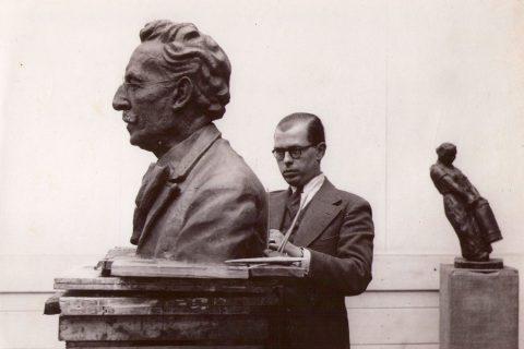 Bernard Diamant, brons, 1937, Kleinpolderplein, Rotterdam