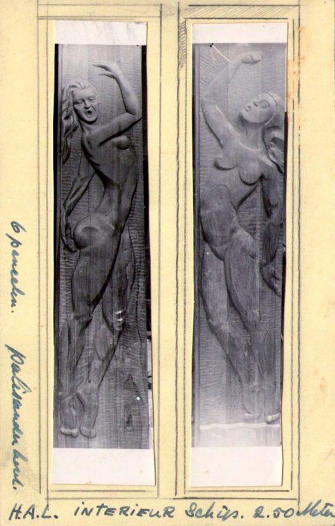 Houten reliëfs, H.A.L. 1941, 2,50 m.