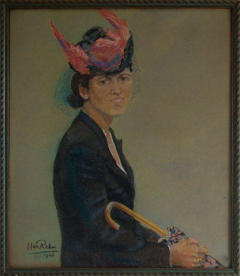 Christl, vrouw van Han, pastel, 1946, 70 – 61 cm