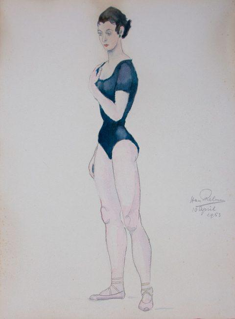 1953, aquarel, 22 – 33 cm