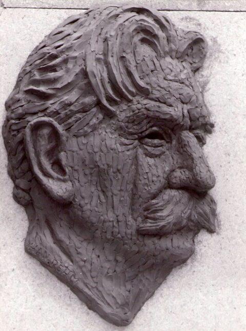 Albert Schweitzer, reliëf, brons, 1965