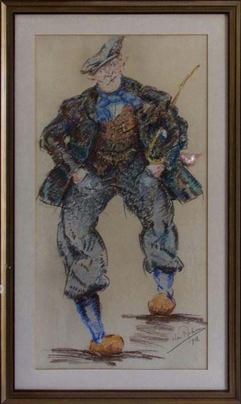 Boer, pastel, 1943, 70 – 35 cm
