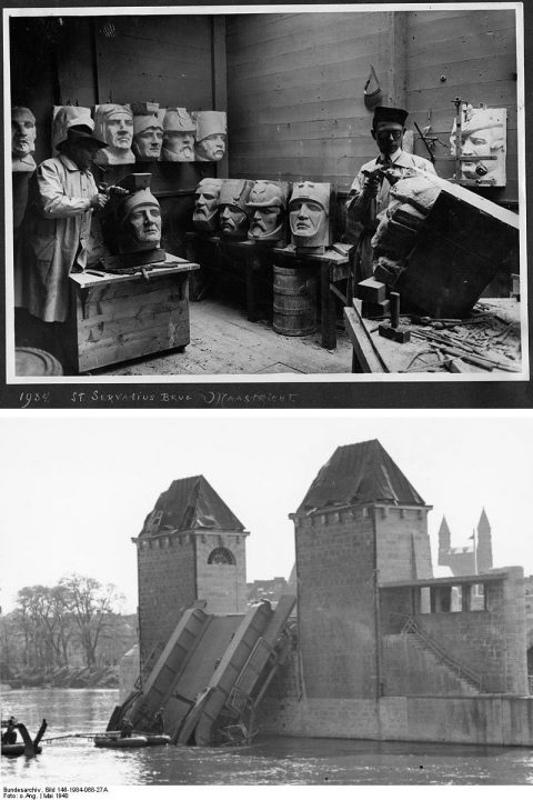 St. Servaasbrug, Maastricht, 1934 en 1940